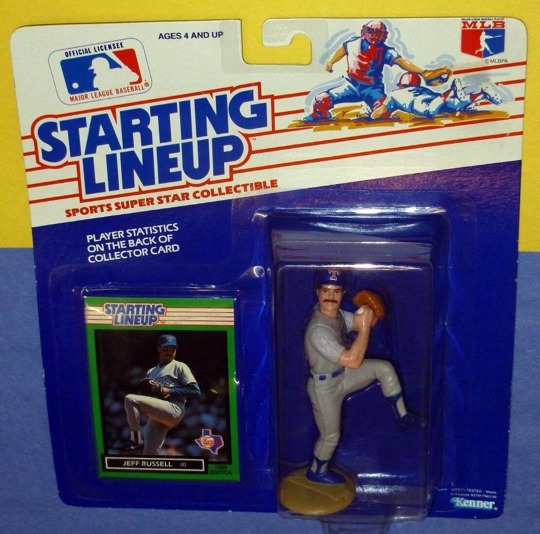 1989 JEFF RUSSELL Texas Rangers Rookie  FREE s h  sole Starting Lineup scarce