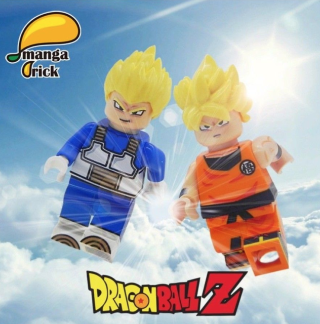 Dragon Ball Z Super Saiya 3.5 inch  Lego Large Figure Building Blocks Rare