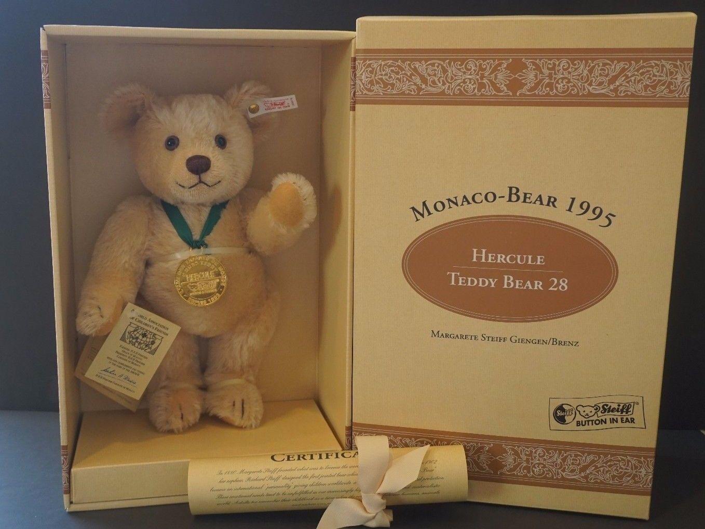 Steiff Monaco Hercules orso orso orso EAN 999079 - Mohair - NIB - L.E. 557 3000 73f895