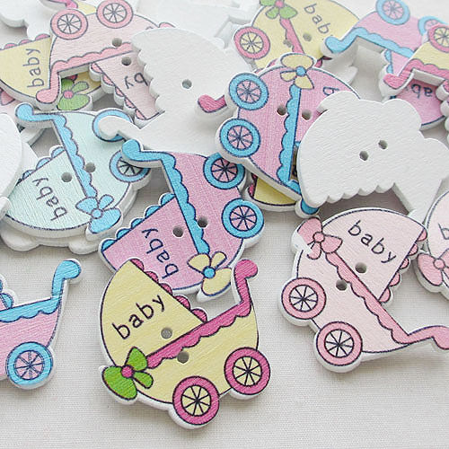 50pcs Wood Baby Kid/'s Car Cute Color Sewing Craft 30MM Wholesale T0673