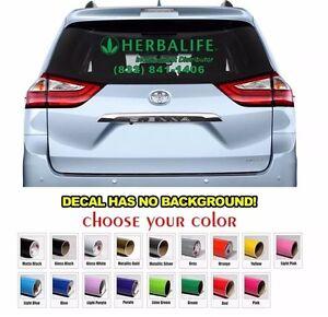 Custom Herbalife Sign Car Window Decal Sign Sticker Decals Free - Custom car window decals
