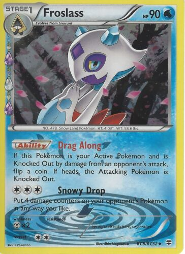 POKEMON GENERATION RADIANT COLLECTION FROSLASS RC8//RC32 HOLO