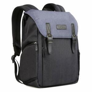 Inateck zweischichtiger Kamera-Rucksack mit Laptop-Fach für DSLR-Kamera, Blau