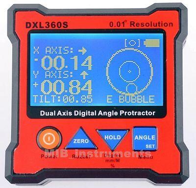 GRAVITY 2 in 1 Digital Protractor Inclinometer Level Box 0.01° DXL360S GYRO