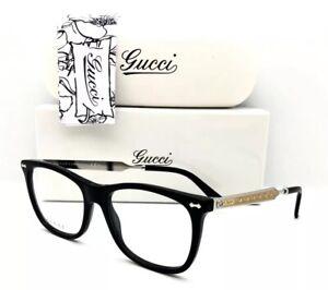 57e865bdf1bb New Gucci Eyeglasses GG 3852 CSA Black Palladium 52•17•140 With Case ...