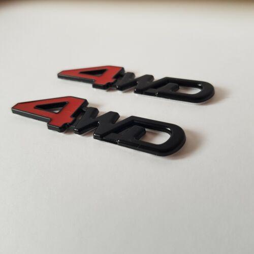 2 x 3D Red Black 4WD Metal Badge Emblem for Alfa Romeo Brera GT GTV Spider 4C