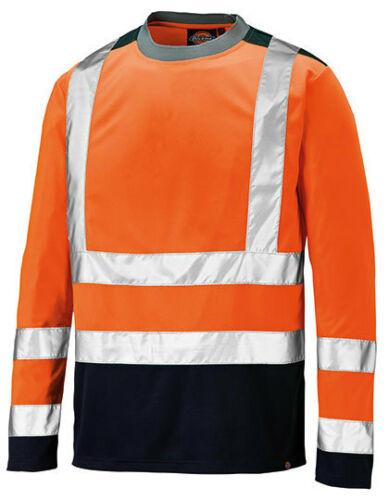 DICKIES SA22082 Warnschutz langarm Shirt Arbeitsshirt Berufsshirt Baushirt Hobby
