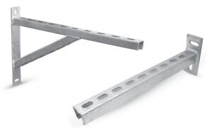 Details about STEEL Wall Mounting Bracket Cantilever Arm Unistrut Support  Arm / 150 - 750 mm