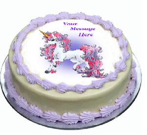 Image Is Loading Unicorn Cake Topper Edible Icing Birthday Party