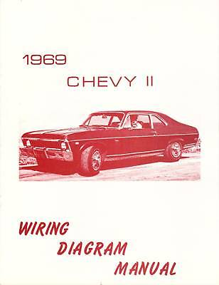 1969 NOVA/ CHEVY II WIRING DIAGRAM MANUAL | eBay