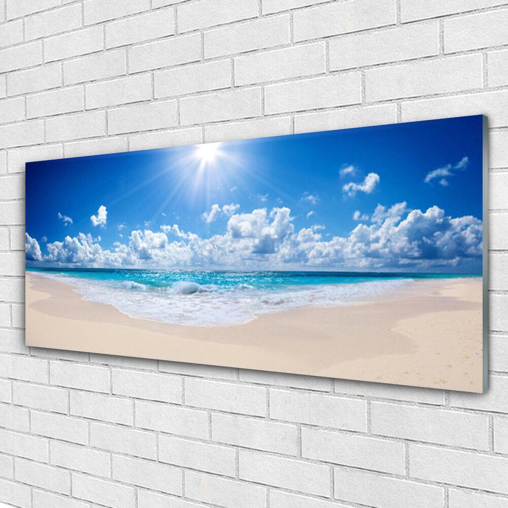 Cristal acrílico imágenes murales presión 125x50 playa mar mar mar sol paisaje da2bf1