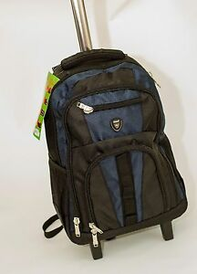 Strong-New-Large-Wheeled-Rucksack-Backpack-Trolley-Luggage-Smart-Black-Blue-Red