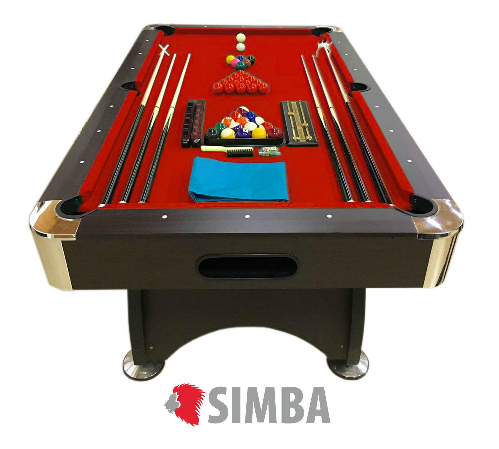Mesa de billar pool 7 ft carambola juegos de billar Mod. rosso Devil FULL