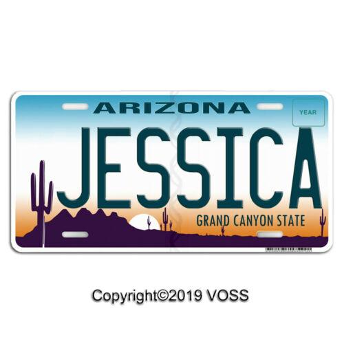 "Arizona Personalized Name Custom Aluminum Vanity Car License Plate /""Jessica/"""