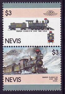 Nevis Loco 100 D & Rgr Class C16 Locomotive Usa Timbres Neuf Sans Charnière-afficher Le Titre D'origine Beau Lustre