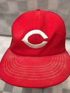 Vintage-Cincinnati-Reds-Beisbol-MLB-Trucker-Gorra-Plana-Adulto-Gorra-Sombrero