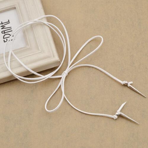 Punk Long Multi-layer Silver Rivet Velvet Choker Collar Necklace Boho Jewellery