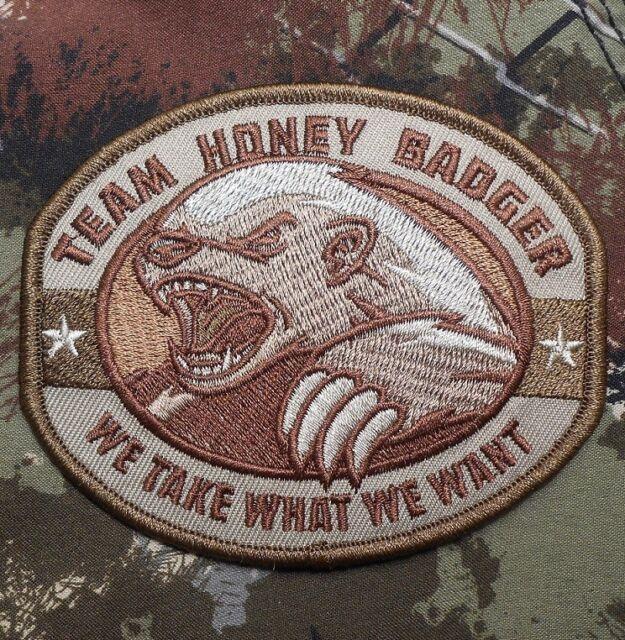 TEAM HONEY BADGER USA ARMY MORALE BADGE MULTICAM VELCRO® BRAND FASTENER  PATCH
