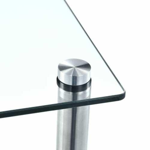 Tempered Glass 2//3//4//5//6 Tiers Shelf Unit Display Side Table Bathroom Storage UK