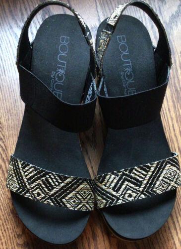 Corky Footwear Black Splendor Wedge Sandlas