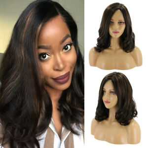 Women-Black-Brown-Ombre-Long-Wavy-Curly-Wig-Synthetic-Hair-Cosplay-Costume-Wigs
