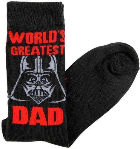 Star Wars Darth Vader World/'s Greatest Dad Men/'s Crew Socks Size 6-12