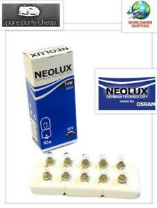 10x-n233-5w-12v-ba9s-Neolux-Seitenscheinwerfer-Birne-Innenraum-Anzeigetafel-Halogen