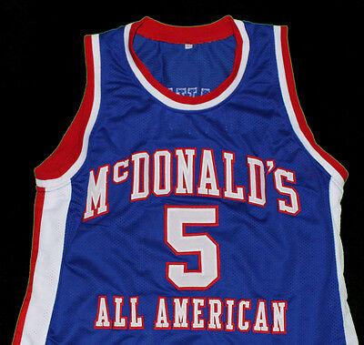 BARON DAVIS  McDONALD/'S ALL AMERICAN BASKETBALL JERSEY BLUE SEWN  NEW ANY SIZE
