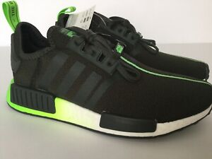 Details about Adidas NMD R1 J Star Wars FW9341 Running Shoes Black Green Yoda Youth Junior