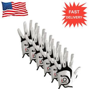 Men-039-s-Golf-Gloves-Leather-6-Pack-Premium-Cabretta-No-Slip-All-Weather-Left-Right