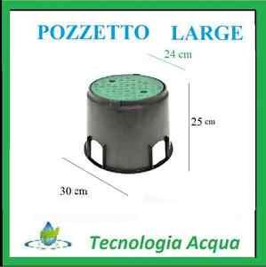 Pozzetti In Plastica Per Giardino.Pozzetto Large Interrato Per Elettrovalvole Giardino Irrigazione