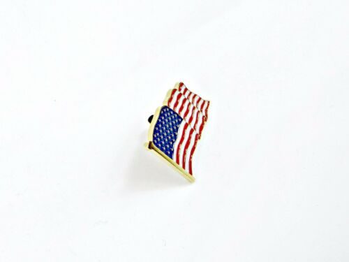 2 Patriotic US U.S USA U.S.A. High Quality American Waving Flag Lapel Pins