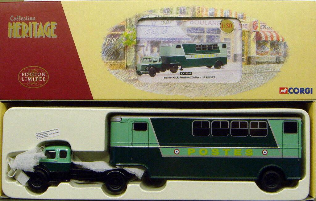 Corgi französische sammlung la poste berliet glr fruehauf trailer - ex70207