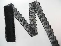 10 Yards Black 1.5 Inches Wide Ribbon And Lace Wholesale