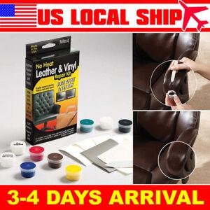 Leather Repair Kit Brown Black Color Vinyl For Furniture