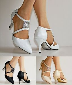 NEW-Ladies-Ankle-Strap-Party-Bridal-Evening-Low-Mid-Heel-Court-Shoes-Size-24-401