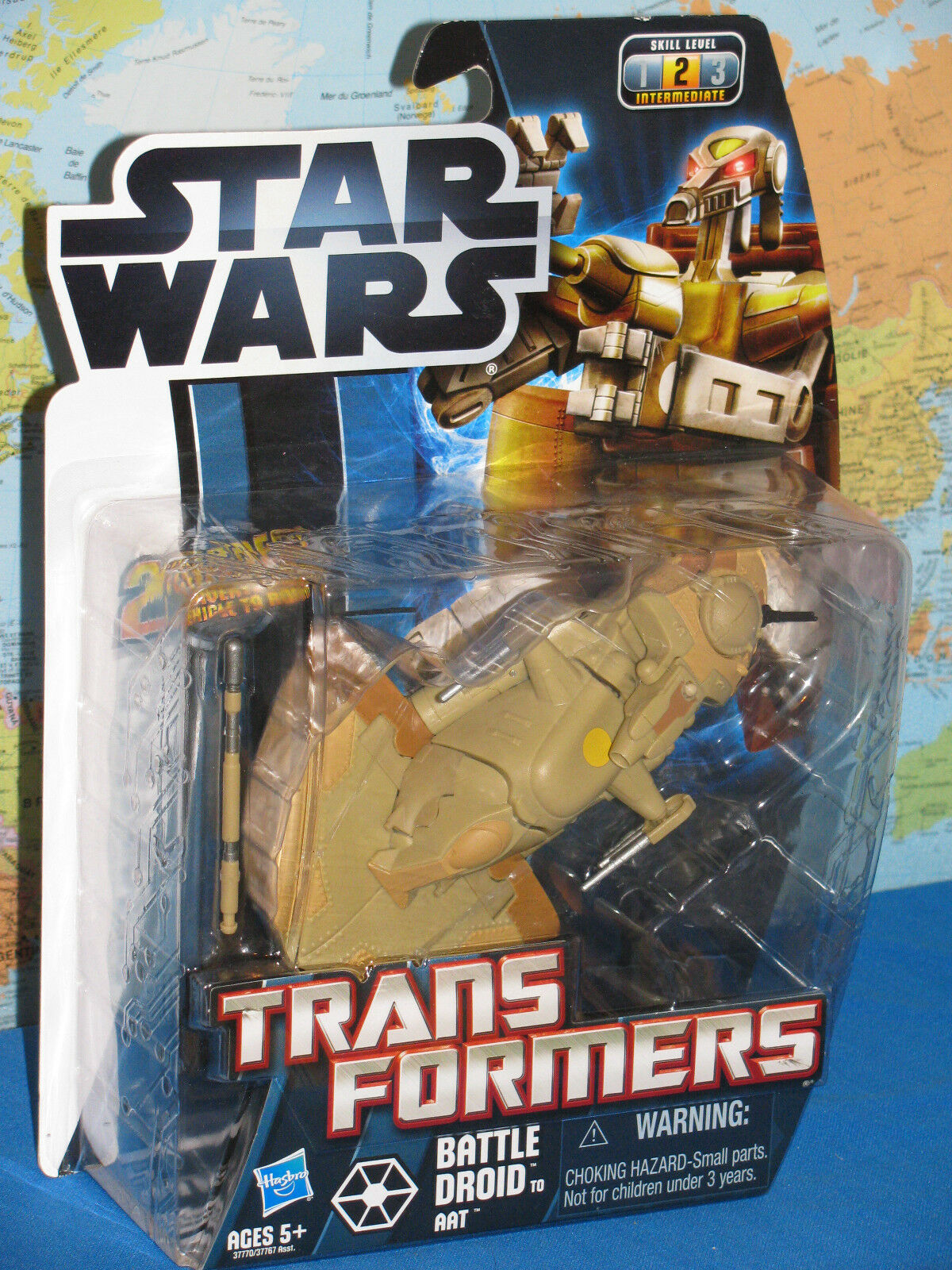 STAR WARS TRANSFORMERS BATTLE DROID TO AAT LEVEL 2 BRAND NEW & RARE