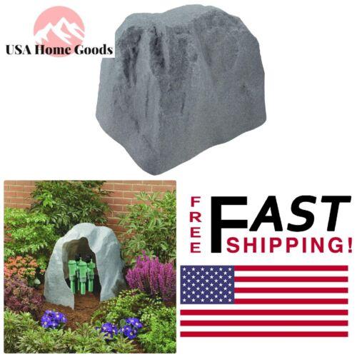 Granite Rock Valve Box Cover Garden Stone Landscape Valves Pipe Protection Decor