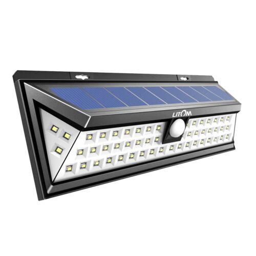 Litom Solar Powered Lights Outdoor 54 LED Super Bright Wide Angle LTCD020AB EBIZ