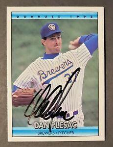 Dan Plesac 1992 Vintage Signed Donruss #682 Card Milwaukee Brewers - MLB Network