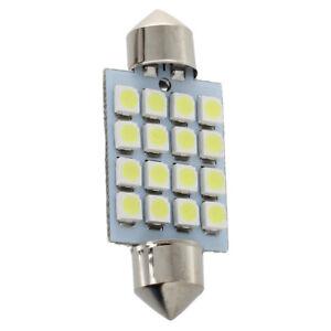 4X-Lampara-Bombilla-para-Interior-de-Coche-16-SMD-LED-Blanco-Puro-C5W-39mm-T7Q9