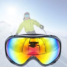 Tinted Adult Snowboard Ski Goggles Anti-Fog Dual Lens Black Frame Men Women New