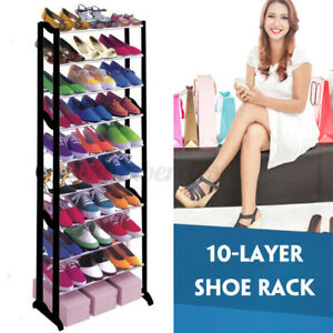 Shoe-Rack-Racks-Organiser-Storage-Shelf-Shelves-Stand-Holder-10-Tier-50-Pairs-L
