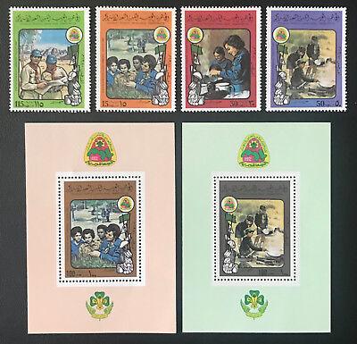 Libyen Libya 1980 ** Pfadfinder Scouts Postfrisch Mnh Various Styles Motive