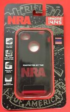 ALLEN iPhone 4 / 4/s Phone case PROTECTED BY NRA Black / Red