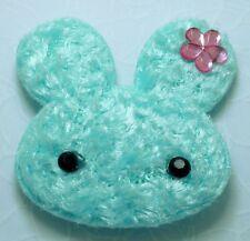 20 Cute Lt Blue Padded Furry Rabbit Bunny Appliques Craft