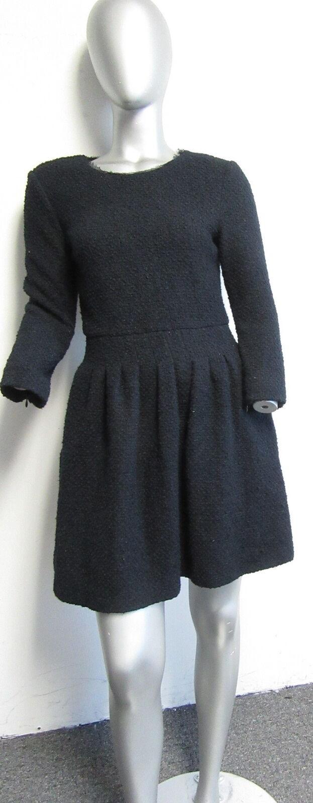 Rosa TARTAN navy boucle bracelet- sleeve fit & flare dress sz 4