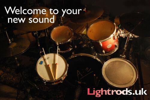 Samba Stick Light Volume Drumrods YES Hotrods /& Drum Brushes not Repinique,