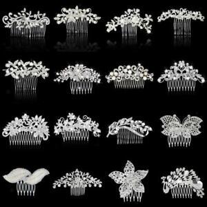 Wedding-Party-Flower-Crystal-Rhinestone-Bridal-Hair-Comb-Clip-Hair-Accessory