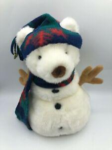 Russ-Berrie-Snowbeary-Snowman-Polar-Bear-Plush-Kids-Soft-Stuffed-Toy-Animal-Doll